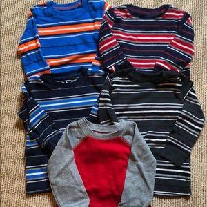 5 - 18 month waffle long sleeve shirts never worn